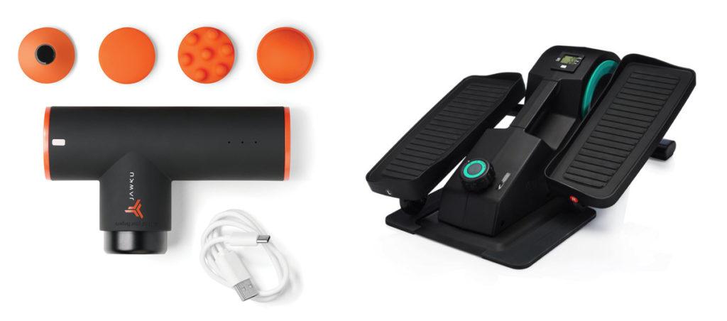 Jawku Muscle Blaster Mini & Cubii Jr Under Desk Elliptical