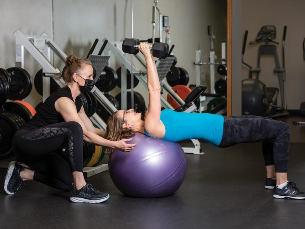 Canada's Top Fitness Trainer Michelle Rowe and Calgary realtor Veronica Palin
