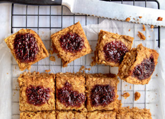 peanutbutter jam oat squares