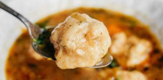 Vegetable Soup with Vegan Dumplings