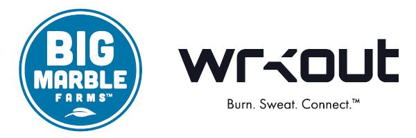 Big Marble Farms logo and Wrkout logo